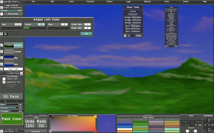 Screenshot: Rainbow Painter 3